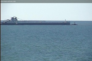 September 29th, 2013. Freighter heading out of the harbor.