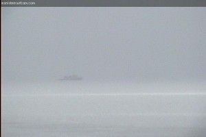 Ice breaker trying to clear a path for the Calumet